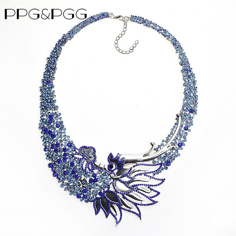 PPG & PGG Boemia di Stile Dell'annata del Collare Collana Dichiarazione di Moda Per Le Donne di Fascino Wonder Disegno Geometrico Diserbo Gioielli