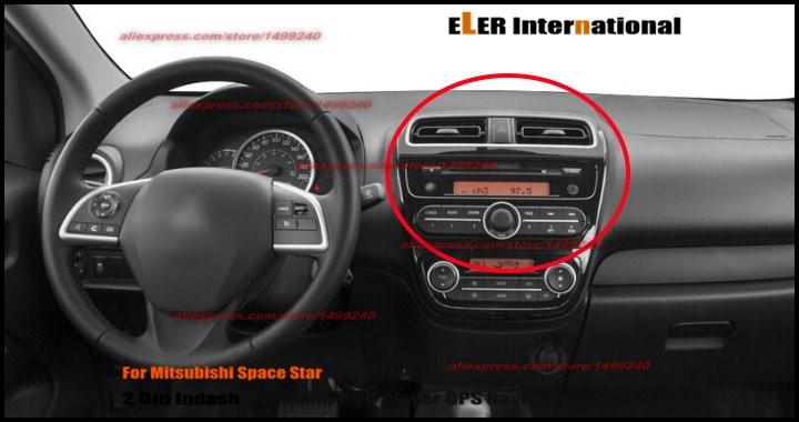 Liislee Car Radio Cd Dvd Playe For Mitsubishi Space Star 2012 2014 Gps Navi Navigation System Double Din Audio Installation Set Double Din Double Din Carcd Dvd Player Aliexpress