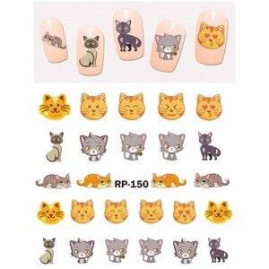 Image 4 - נייל אמנות יופי נייל מדבקת מים מדבקות מחוון קריקטורה בעלי החיים קנגורו דביבון חתול חג המולד קיפוד RP145 150