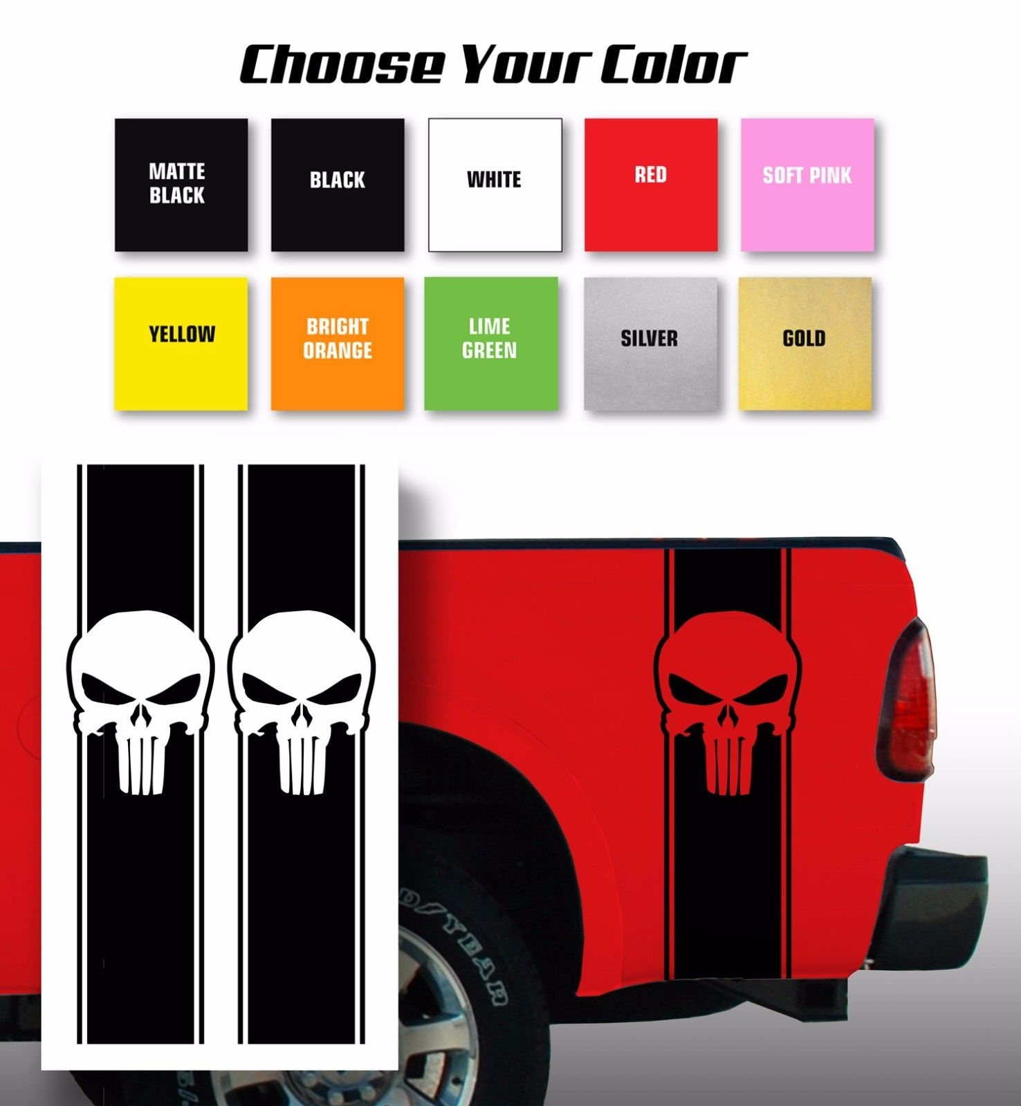 Tienda Online Car styling para Punisher Chevy Ford para Dodge pickup ...
