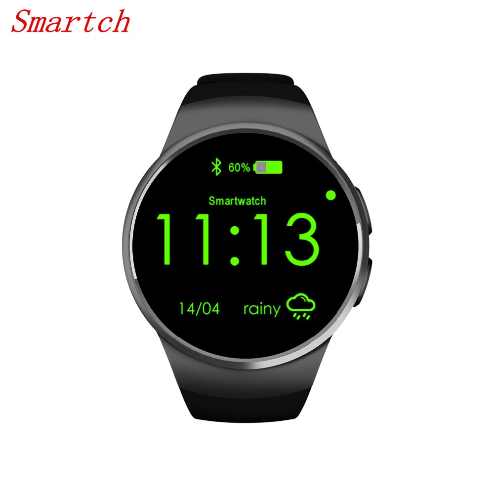 Smartch kw18 smart watches sim mtk2520 smart watch 1.3 inch Smartwatch sliver/gold/black with heart rate monitor Call Reminder T wireless service call bell system popular in restaurant ce passed 433 92mhz full equipment watch pager 1 watch 7 call button