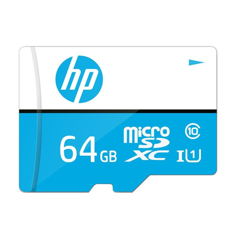 Cartão De Memória HP 64 gb microSDXC Velocidade de até 100 mb/s Full HD Vídeo 4 k Foto anti raio x TF Cartão SD à prova d' água Por Atacado Dropshiping