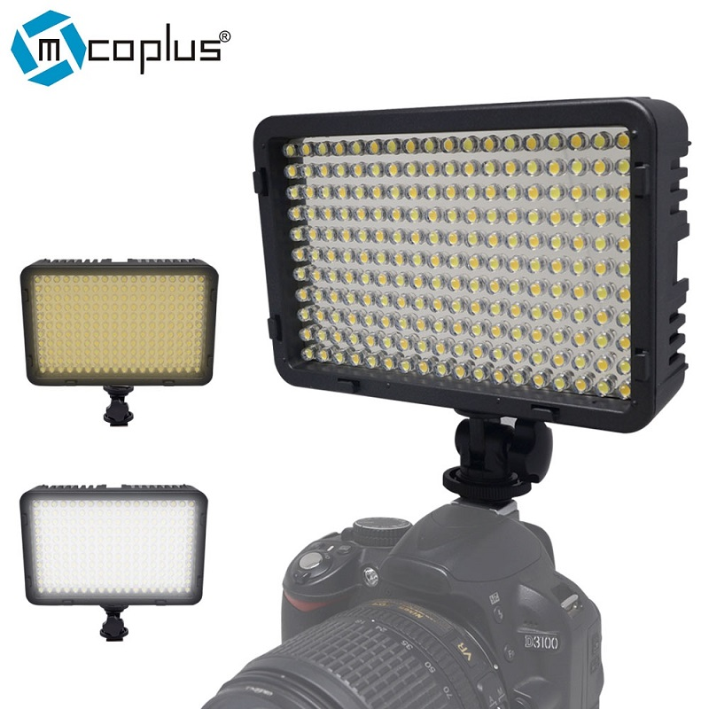 Mcoplus 168 Bi Color 3200K 7500K LED Video Light for Canon Nikon Pentax Sansung Digital SLR