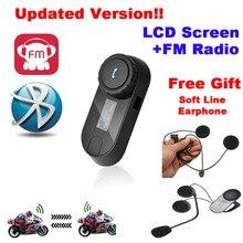 Free Shipping!TCOM-SC W/Screen Bluetooth Motorcycle Motorbike Helmet 800M Intercom Headset+Soft Earpiece все цены