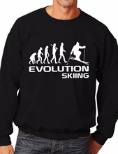 Evolution Of Skiing/Skier Funny Sweatshirt/Jumper Unisex Birthday Gift More Size and Color-E212