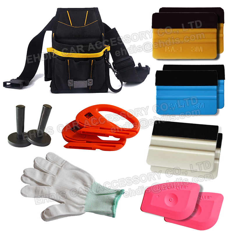Automotive Window Tinting Kits Tools Bag w/ Felt Squeegee Film Holder Scrapers AT016