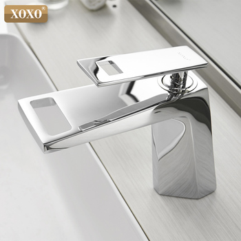 Basin Faucet  Black Waterfall Bathroom Faucet  Cold And Hot Single handle Bathroom Faucet Mixer Water Tap 80015A