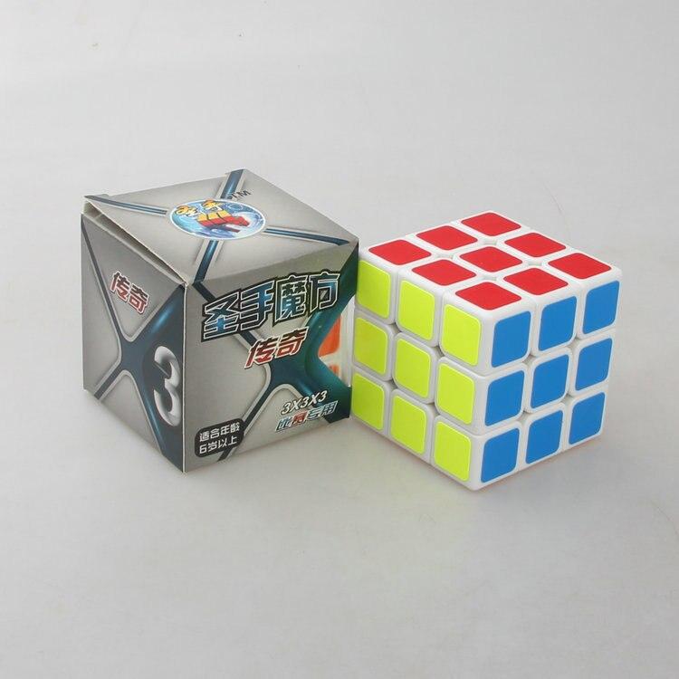 Shengshou legend 3x3 cube Белый/Черный кубик Cubo Magico куб скоростной куб обучающий игрушка для детей дропшиппинг - Цвет: Белый