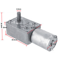 DC 12V Gear Reduction Motor Worm Reversible High Torque Turbo Geared Motor 2-100RPM Mayitr Mini Electric Gearbox Reducer(China)