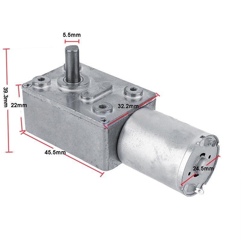 Motor de reducción de engranajes DC 12 V gusano Reversible de alta torsión Turbo motorreductor 2-100 RPM Mayitr Mini eléctrico caja de cambios, reductor de