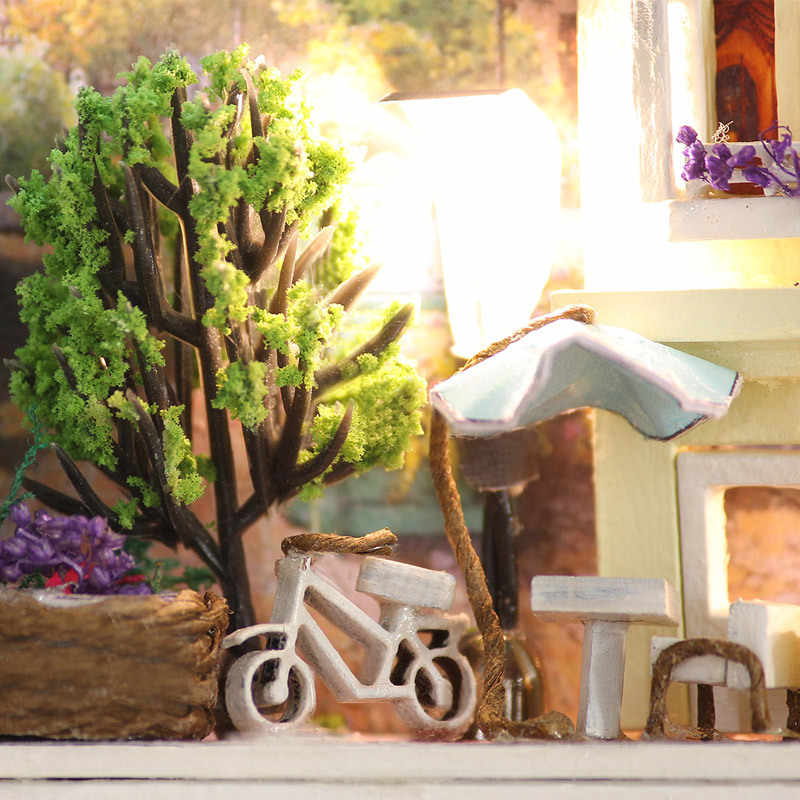 Кукольный дом Diy Миниатюрный 3D Деревянный пазл кукольный домик Miniaturas мебель ручной работы ремесло железный ящик Кукольный дом игрушечный ящик секрет