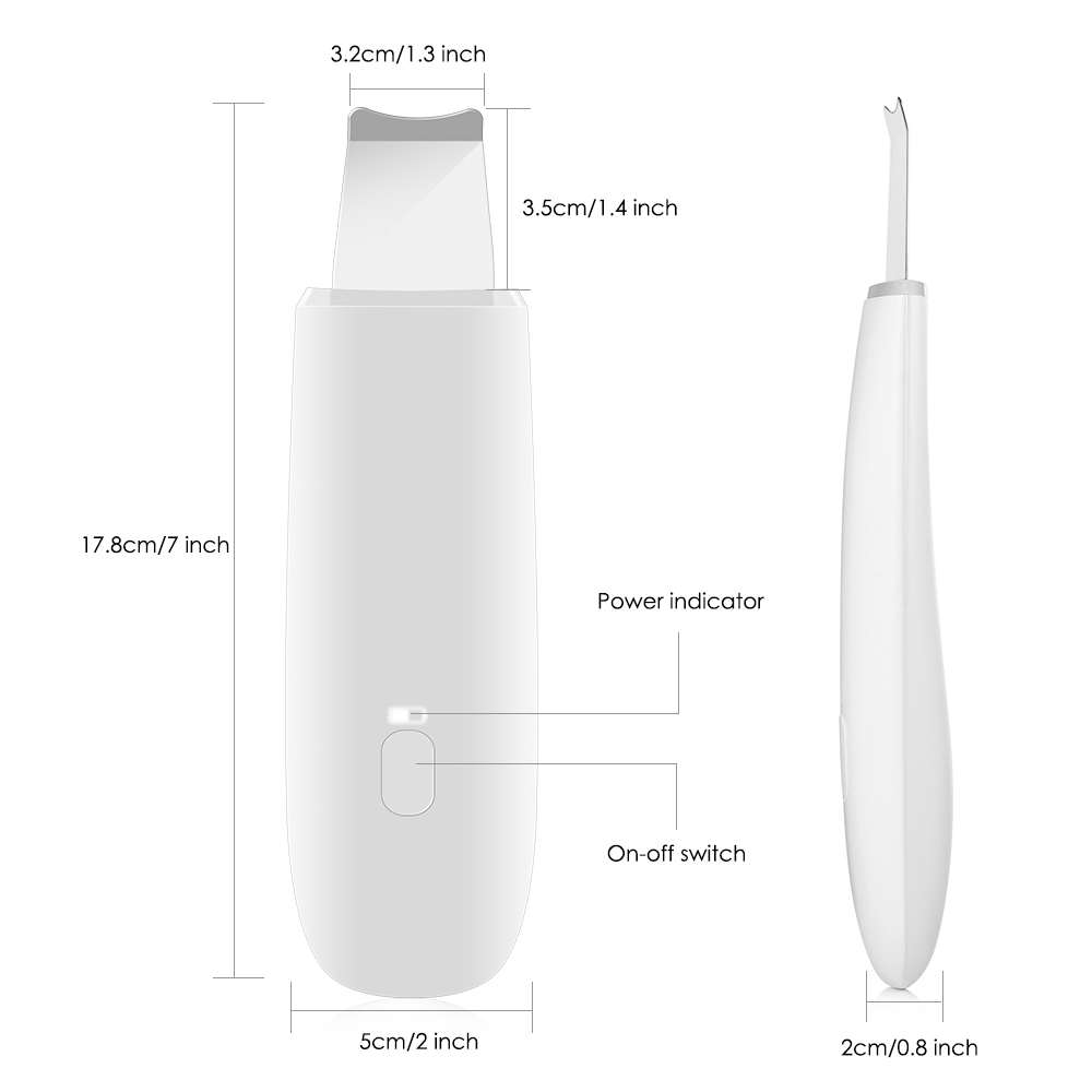 Купить с кэшбэком BZ - 0113 Ultrasonic Skin Scrubber Refreshing Instrument Ultrasonic Ion Skin Cleaner Facial Cleansing Spatula Beauty Instrument