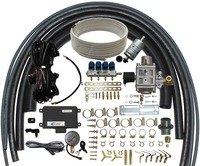 Methane CNG Conversion Kits Multipoint Sequential Injection System for 3 or 4 Cylinder Petrol Fuel Injection Cars