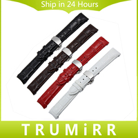 18mm Curved End Genuine Leather Watchband For Tissot 1853 Watch Band Butterfly Buckle Strap Wrist Bracelet