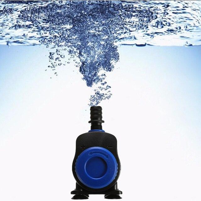1 unidad 5/14/20/35/45/500-3500L 80 W/H Ultra silencioso filtro de bomba de agua sumergible fuente estanque de peces de acuario tanque de elevación alta Enchufe europeo