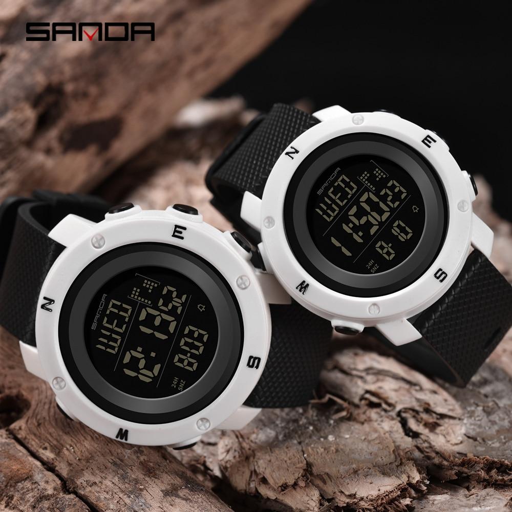Sanda Couple Watches Reloio Masculino Digital Waterproof Sport Watch Dual Display Youth Watch Relogio Feminino Jam Tangan Couple