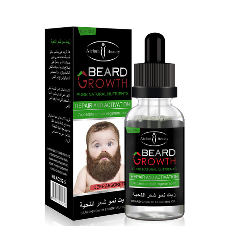 30ml Natural Organic Beard Oil Balsam Wax Hair Loss Conditioner For Fast Beard Growth Essence Hair Tonic Gentlemen Beard Care