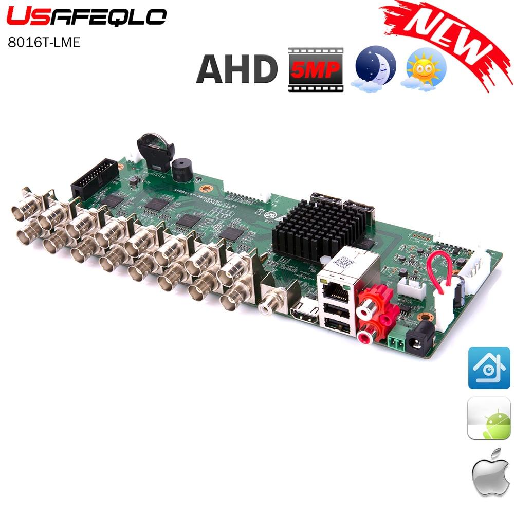 H 265 16ch AHD DVR 5MP N CCTV 16Ch 5MP Hybrid Security DVR Recorder Camera Onvif