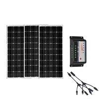 Солнечный комплект 36 В 300 Вт 24 В монокристаллического Панели солнечные 12 В 100 Вт 3 шт. Солнечный Батарея Зарядное устройство контроллер 12 В/24 В