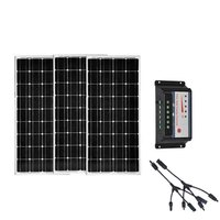 Solar Kit 36V 300w 24v Monocrystalline Solar Panel 12v 100w 3 PCs Solar Battery Charger Controller 12v/24v 30A Mortorhome Car