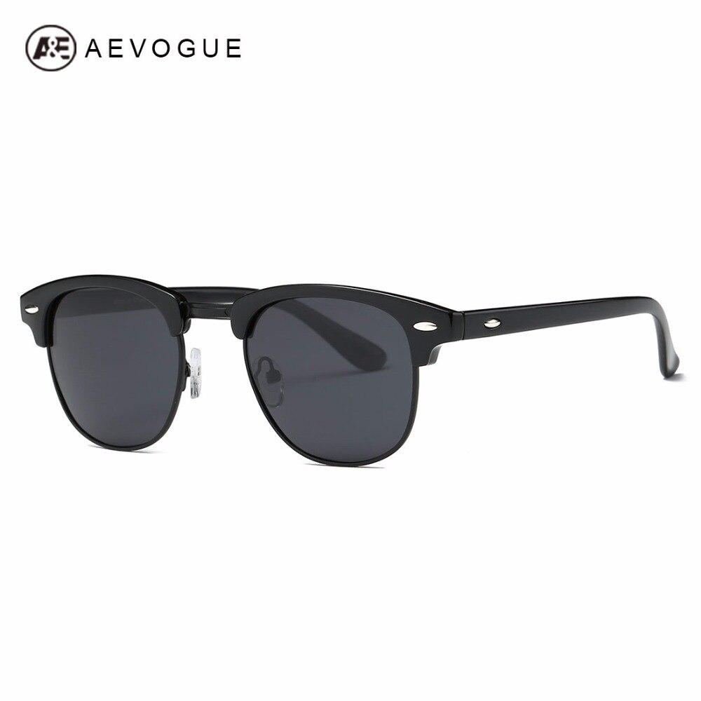 AEVOGUE Polarized Sunglasses Men Retro Semi-Rimless Polaroid Lens Summer Style Brand Designer Unisex Sun Glasses AE0550