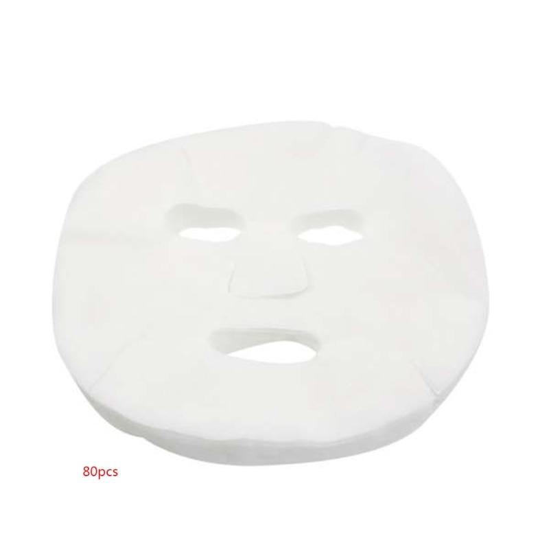 80Pcs Beauty Face Mask Cotton Fabric Paper Disposable Cotton Non-Woven Fabric DIY Facial MasqueSheet Skin Care Accessory