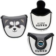 Cute animal husky półokrągły klub golfowy osłona główki kija golfowego