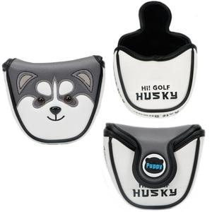 Image 1 - Leuke Dier Husky Halve Cirkel Golf Club Golf Head Cover