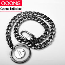 40cm Long Metal Wallet Belt Chain Rock Punk Trousers Hipster Pant Jean Keychain Silver Ring Clip Keyring Men's HipHop Jewelry(China)