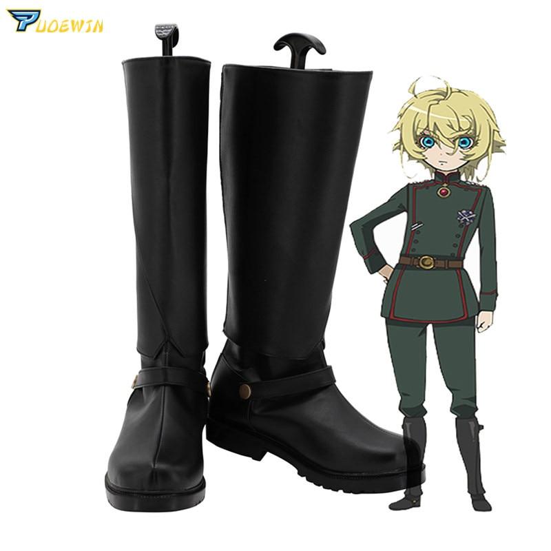 Saga of Tanya the Evil Tanya Degurechaff Cosplay Shoes Custom Made Boots