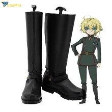 Saga de Tanya the Evil, zapatillas de Cosplay de Tanya Degurechaff, botas hechas a medida