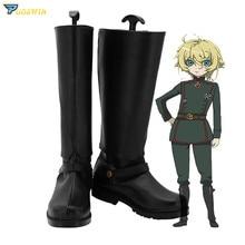 Saga van Tanya de Evil Tanya Degurechaff Cosplay Schoenen Custom Made Laarzen