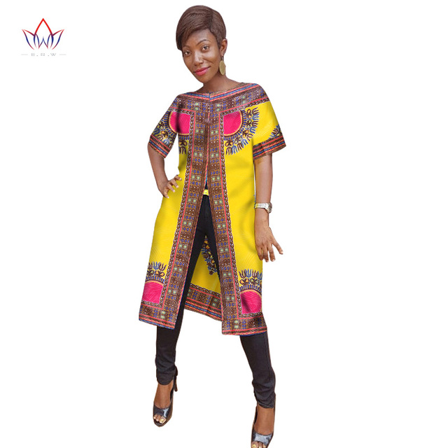 ab748a0b800c9 Ankara Women African Traditional Clothing Tees Fashions Tops Dashiki Africa  Print Shirt Plus Size M-6XL Women Clothes WY985