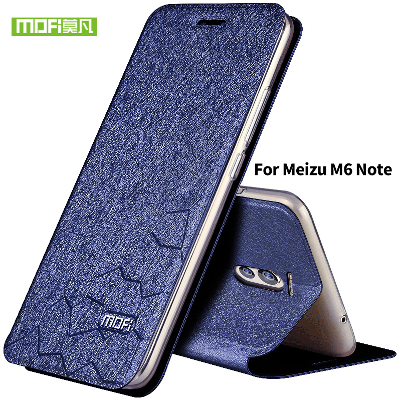 Case for meizu m6 note case flip leather Mofi original for meizu m 6 note silicon funda m6note metal wallet cover shockproof 5.5