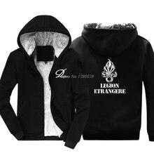 Mode Verdicken Hoodie Legion Ausländische Armee Frankreich Ausländischen Legion Krieg Soldaten Infanterie Infant Sweatshirt Kühlen Jacke Harajuku