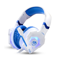 Cosonic 3 5mm USB Stereo Bass Gaming Headphones Noise Cancelling Gamer Headsets With Microphone LED Light