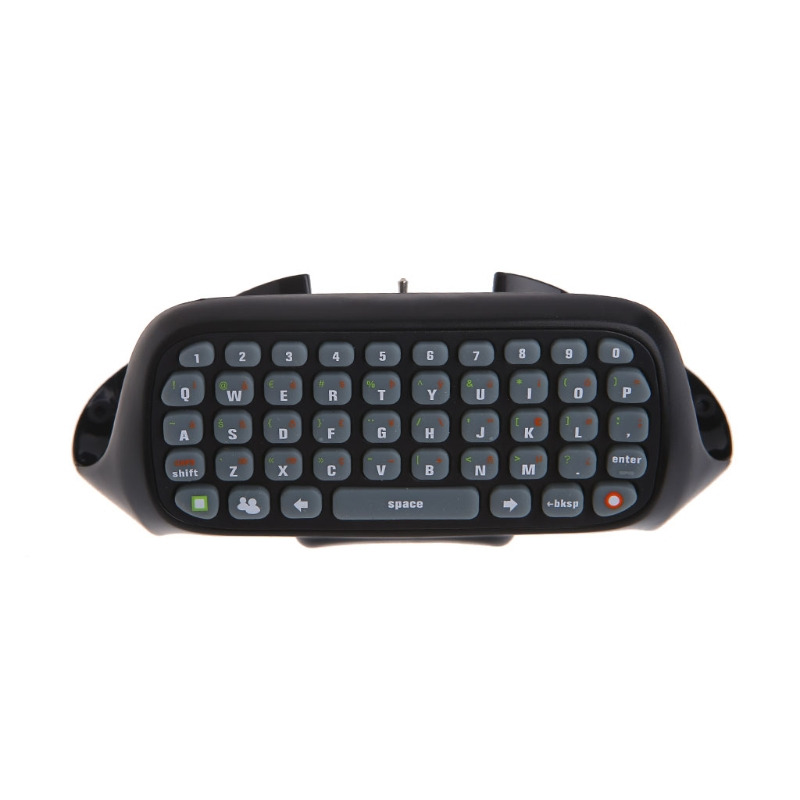 Black Wireless Text Messenger Keyboard Keypad For Xbox 360 Game Controller