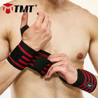 TMT Large elastic Thickened and widened wrist support Wrap Sport band Bandage Strap Weightlifting Gym Fitness Dumbbell Barbell