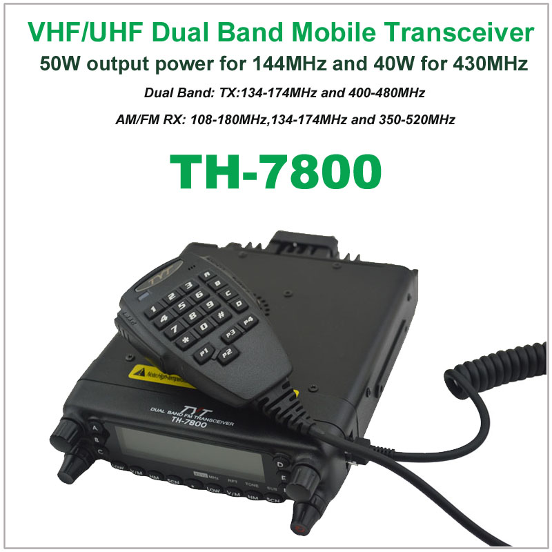 TYT TH7800 TYT TH-7800 Car Radio Mobile Radio Transceiver  Dual Band 136-174/400-480MHz 50W VHF/40W UHF Mobile Radio Station