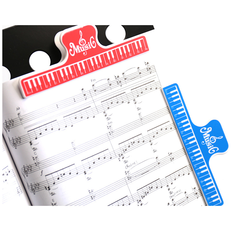 4pcs Colorful Plastic Music Score Fixed Clips Book Paper Holder for Guitar Violin Piano Player Multifunction Spring Clips 15cm in Guitar Parts Accessories from Sports Entertainment