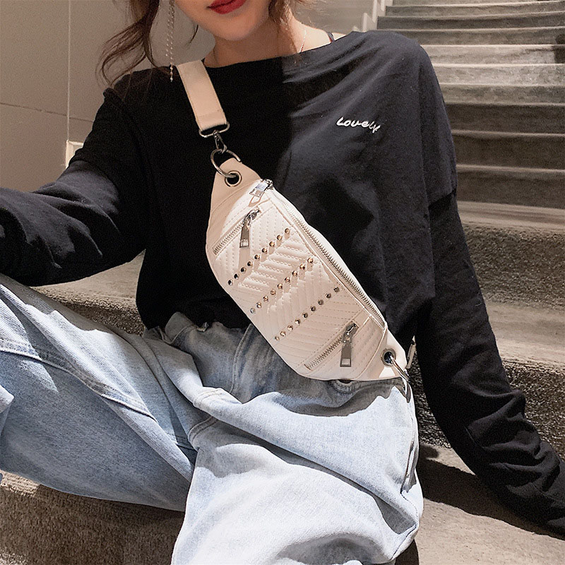 Waist Pack Women Leather Fanny Pack Waist Pack Banana Bag Brand Fanny Pack High Capacity Young People Kidney Crossbody Bags