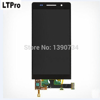 Black White FULL Touch Screen Digitizer Glass LCD Display Panel Assembly For Huawei Ascend P6 Replacement