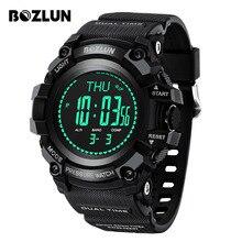 BOZLUN Luxo Relógio Inteligente Homens Do Esporte Ao Ar Livre Relógios À Prova D' Água Previsão do tempo/Detecção de Pressão SmartWatch Reloj InteligeMG02