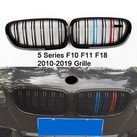 M5 frente de fibra de carbono ABS rim bumper grille para BMW série 5 F10 F11 F18 520d 530d 540i 530i 523i 528d 535i 2010-2016