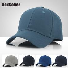 RoxCober New simple men's large size baseball cap Cotton Solid Color snapback Hat gorras para hombre de marca outdoor golf caps