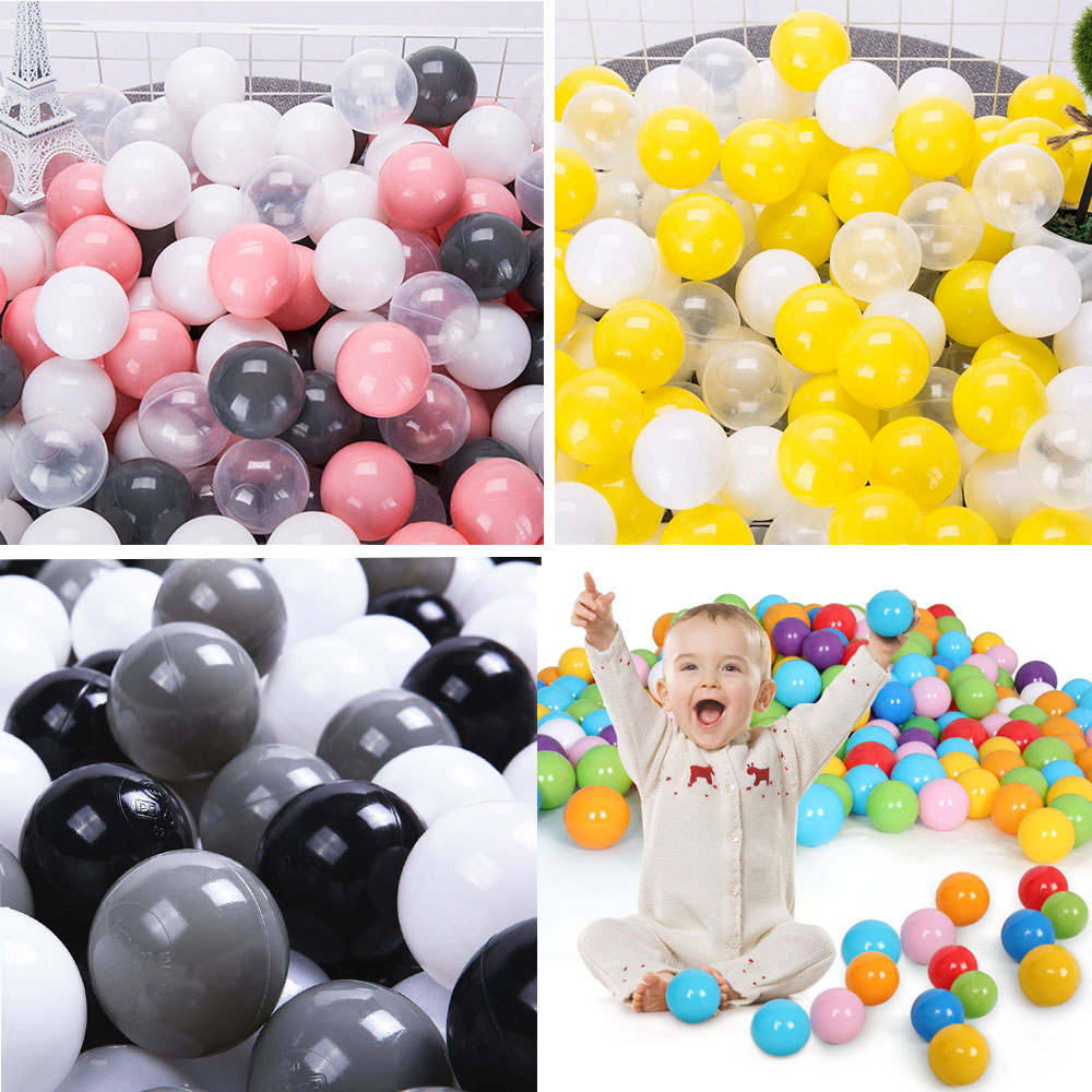 100Pcs/Set Eco-Friendly New Colorful Ball Pits Soft Plastic Ocean Ball Children Kids Baby Water Pool Ocean Wave Ball Swim Toys