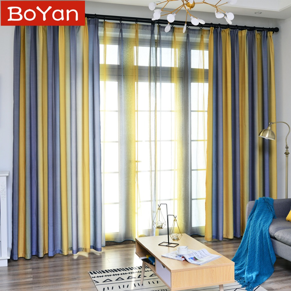Yellow Curtains For Living Dining Room