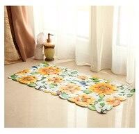 2017 New Free Shipping Sun Flower Household Bathroom Toilet Non Slip Mat Anti Skid Plastic PVC