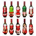 Mini Weihnachten Schürze Für Rotwein Flasche Abdeckung Santa Claus Weihnachten Haustiere Katze Hund Elch Neue Jahr der Esstisch dekor WEIHNACHTEN|Strümpfe & Geschenkehalter|   -