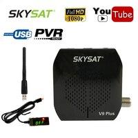 [Brazil] SKYSAT V9 Plus Full HD DVB S2 Digital Satellite Receiver TV Decoder Box WiFi Youtube Cline Newcamd Vu Biss Set Top Box